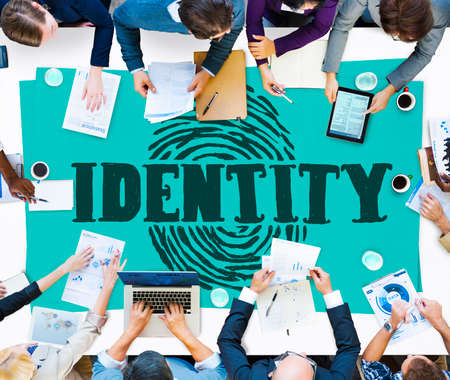 identity protection: Finger print Identity Branding Protection Safety Concept