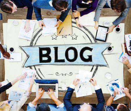 ブログ ブログ、オンライン設計 Web ページ サイト コンセプト