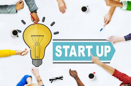 People in a meeting with start-up ideas concept