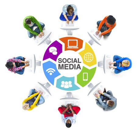 american downloads: People Social Networking and Social Media Concept Stock Photo