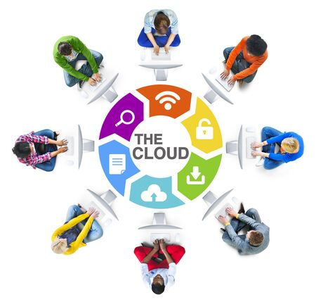 american downloads: People Social Networking and The Cloud Concept