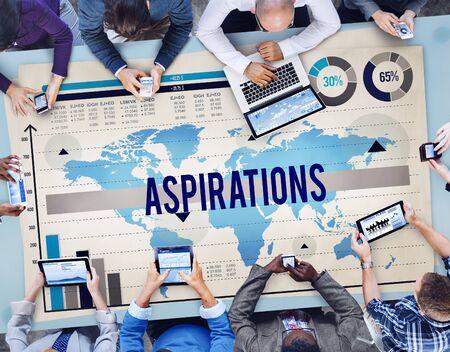 aspirations: Aspirations Target Vision Hope Innovation Concept Stock Photo