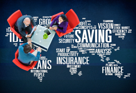 financial world: Saving Insurance Plans Ideas Finance Growth Analysis Concept