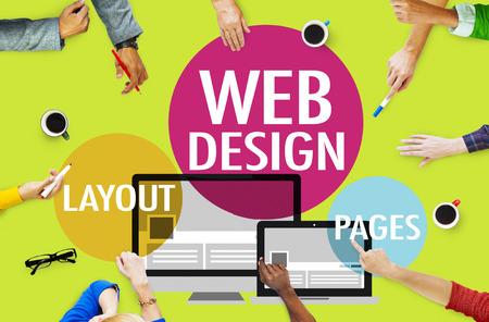 Webdesign Inhalts Kreative Webseite Responsive Konzept