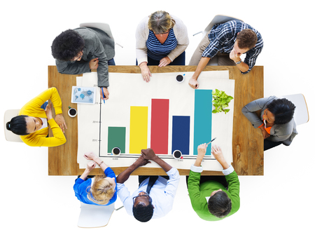 Bar Graph Analysis Concept Stock Photo
