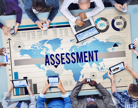 Assessment Opinion Evaluate Measurement Plan Concept Stock Photo