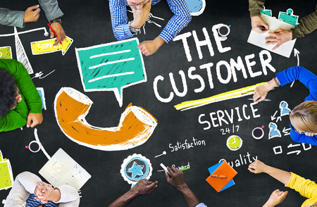 customer support: The Customer Service Target Market Support Assistance Concept