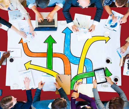 方向選択変更変更意思決定の概念 写真素材
