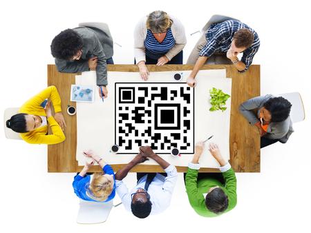 QR Code Data Identity Concept