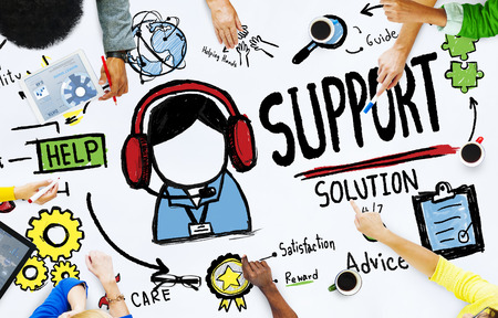 group solution: Support Solution Advice Help Care Satisfaction Quality Concept