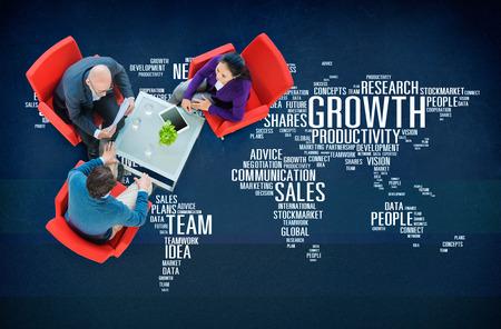 Omzetgroei Visie Network Team Idea mensen Concept Stockfoto