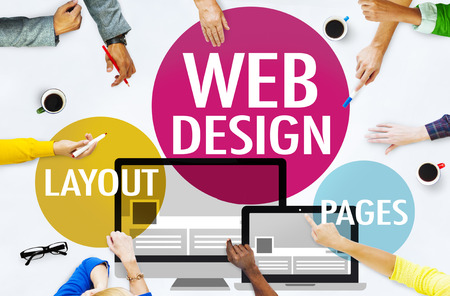 Webdesign Inhalts Kreative Webseite Responsive Konzept Standard-Bild - 41408758