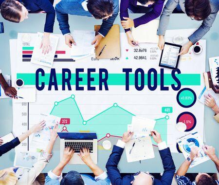 place of employment: Career Tools Plan Planning Strategy Concept