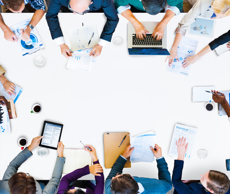 Team Discussion Meeting Planning Concept Stockfoto