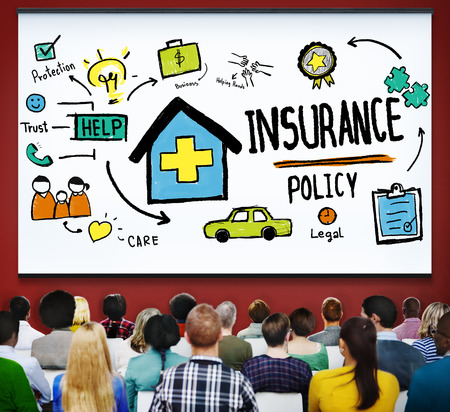 property management: Insurance Policy Help Legal Care Trust Protection Protection Concept Stock Photo
