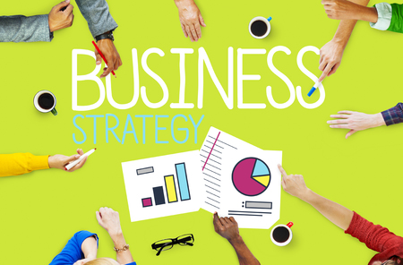 Group of People Meeting About Business Strategy Stock Photo