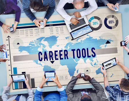 carrer: Carrer Tools Job Profession Hiring Employment Concept