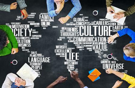 la société: Société de l'idéologie de la culture communautaire Principe Concept