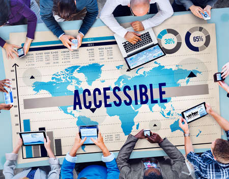 attainable: Accessible Attainable Available Open Usable Concept