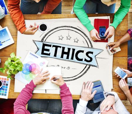 behavior: Ethics Integrity Fairness Ideals Behavior Values Concept