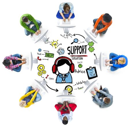 support services: Support Solution Advice Help Care Satisfaction Quality Concept