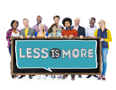 usefulness: Less is More Minimal Simplicity Efficient Complexity Concept Stock Photo