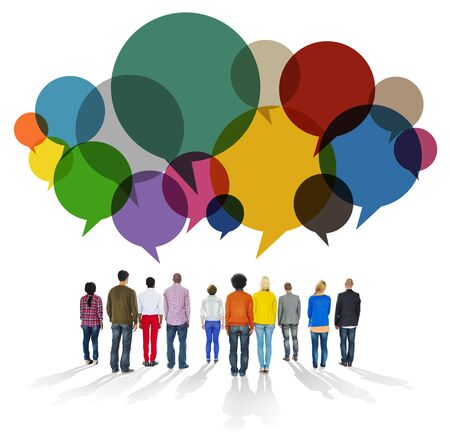 Casual People Message Talking Communication Concept Stock Photo