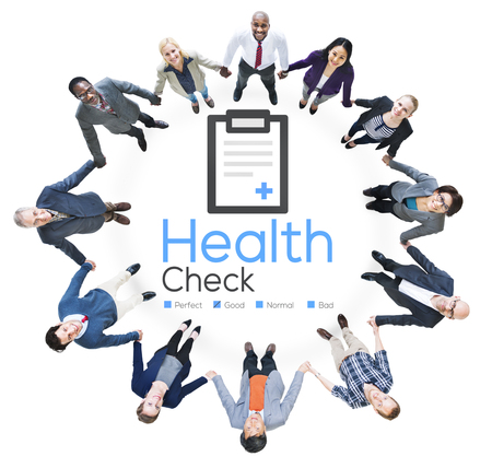 round collar: Health Check Diagnosis Medical Condition Analysis Concept