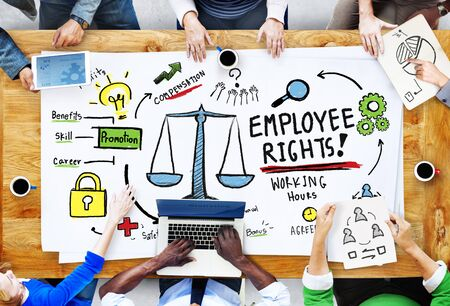 place of employment: Employee Rights Employment Equality Job People Meeting Concept Stock Photo