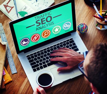 optimisation: Search Engine Optimisation Analysis Information Data Concept Stock Photo