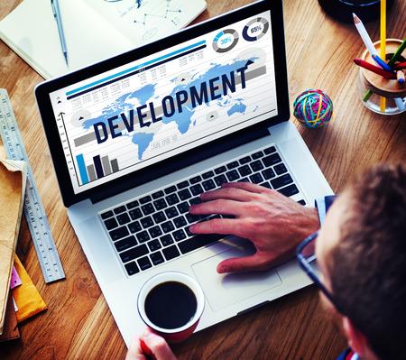 software development: Development Growth Improvement Management Business Concept