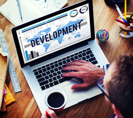 software solution: Development Growth Improvement Management Business Concept