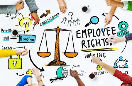 従業員の権利概念を満たす雇用平等の仕事人 写真素材
