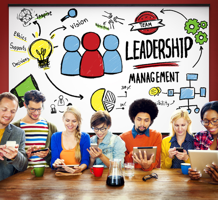 role model: Leadership Leader Management Authority Director Concept Stock Photo