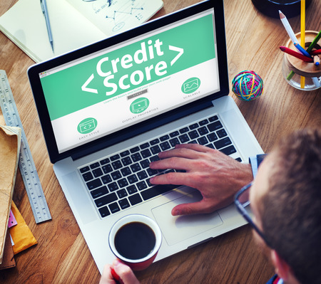 rated: Digital Online Credit Score Finance Rating Record Concept