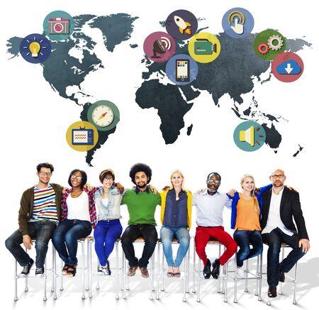iconos: Global Social Media International Media Concepto Conexi�n