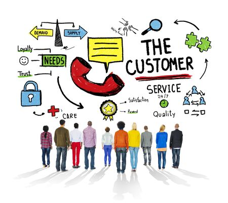 excellent customer service: The Customer Service Target Market Support Assistance Concept