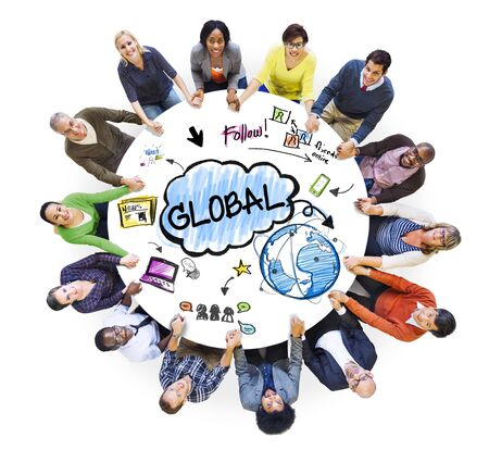 people holding hands: People Holding Hands and Global Network Concepts