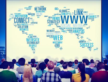 Internet presentation concept Foto de archivo - 108572597