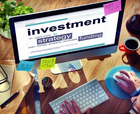 investment strategy: Digital Dictionary Investment Strategy Funding Concept