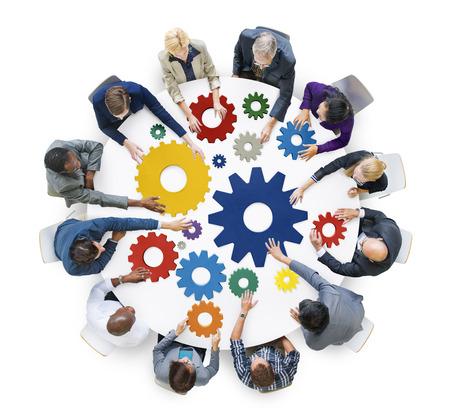 Brainstorming Cog collaborazione in team concetto di solidarietà Archivio Fotografico - 41442958