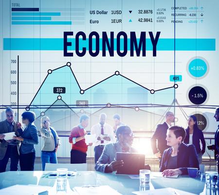 Economie Financiënbegroting Marketing Bedrijfsconcept Stockfoto