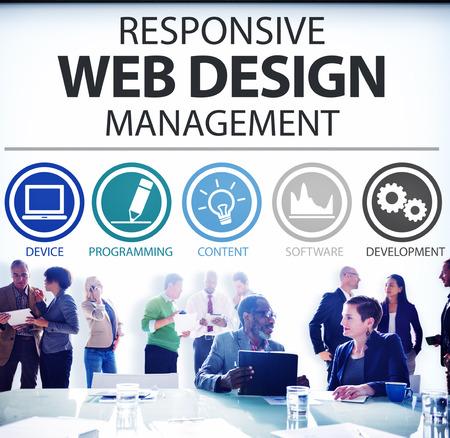 web design: Responsive Web Design Management Programming Concept
