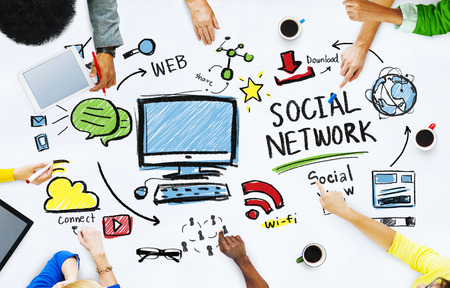 Social Network Social Media Mensen Meeting Communication Concept