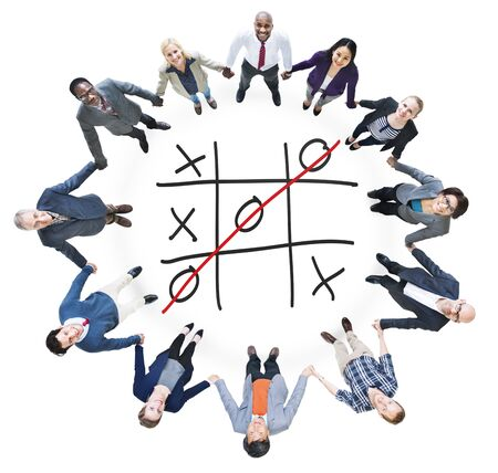 tic tac toe: Tic Tac Toe Game Competition XO Win Challecge Concept