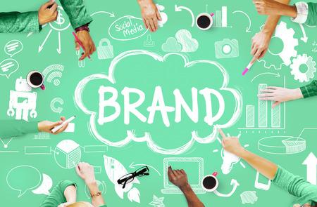 ブランド ブランドの接続のアイデア技術コンセプト