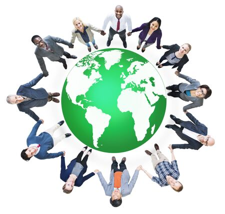round collar: Green Business Environment Global Conservation Concept Stock Photo