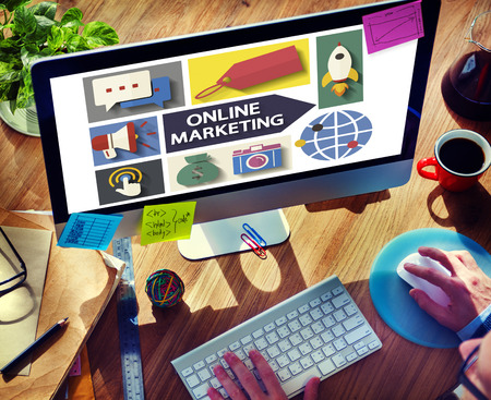 analysing: Online Marketing Branding Global Communication Analysing Concept