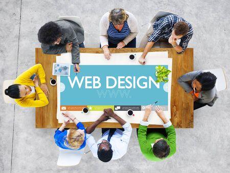 Www Web Design Webseite Website Konzept Standard-Bild