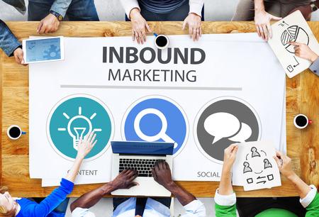 Inbound Comercio Content Marketing Social Medios Concept Foto de archivo - 41440042